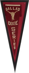 Baseball Collectibles:Others, Circa 1930 Dallas Dixie Series Pennant....