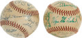 Autographs:Baseballs, 1938 Dallas Steers & 1950 Dallas Eagles Team Signed BaseballsLot Of 2....