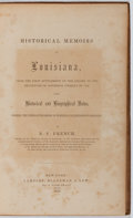 Books:Americana & American History, B. F. French. Historical Memoirs of Louisiana. Lamport,Blakeman & Law, 1853. First edition. Binding sunned and wor...