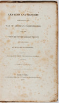 Books:Americana & American History, [American Revolution]. Madame de Riedesel. Letters and MemoirsRelating to the War of American Independence... Carvi...