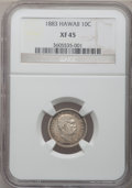 Coins of Hawaii: , 1883 10C Hawaii Ten Cents XF45 NGC. NGC Census: (31/223). PCGSPopulation (78/312). Mintage: 250,000. (#10979)...