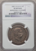 Coins of Hawaii: , 1883 50C Hawaii Half Dollar -- Improperly Cleaned -- NGC Details.XF Details. NGC Census: (36/335). PCGS Population (76/483...