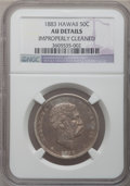 Coins of Hawaii: , 1883 50C Hawaii Half Dollar -- Improperly Cleaned -- NGC Details.AU Details. NGC Census: (26/270). PCGS Population (55/360...