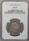 Coins of Hawaii: , 1883 50C Hawaii Half Dollar AU53 NGC. NGC Census: (16/254). PCGSPopulation (41/319). Mintage: 700,000. (#10991)...