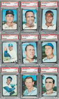 Baseball Cards:Lots, 1969 Topps Super PSA Mint 9 Collection (14) with HoFers. ...