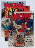 Golden Age (1938-1955):Miscellaneous, Wow Comics #19, 47, and 56 Group (Fawcett Publications, 1943-47) Condition: Average VG+.... (Total: 3 Comic Books)