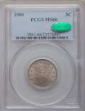 Liberty Nickels, 1900 5C MS66 PCGS. CAC....