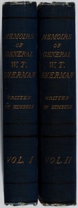 Books:Biography & Memoir, General William T. Sherman. Memoirs. Appleton, 1875. First edition. Two octavo volumes. Spines toned, binding a ... (Total: 2 Items)