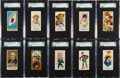 Non-Sport Cards:Lots, C. 1890 Non-Sports SGC 84 NM 7 Mini-Type Card Collection (10). ...