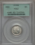Barber Dimes: , 1893 10C MS62 PCGS. PCGS Population (42/166). NGC Census: (39/171).Mintage: 3,340,792. Numismedia Wsl. Price for problem f...