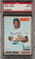 Baseball Cards:Singles (1970-Now), 1970 Topps Hank Aaron #500 PSA Mint 9 - None Higher!...