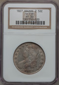 Bust Half Dollars: , 1827 50C Square Base 2 VF30 NGC. O-118. NGC Census: (36/1905). PCGSPopulation (68/1770). Mintage: 5,493,400. Numismedia W...
