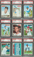 Baseball Cards:Singles (1970-Now), 1970 Topps Baseball PSA Gem Mint 10 Collection (9). ...