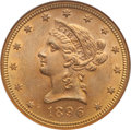 Liberty Eagles: , 1896 $10 MS63 NGC. NGC Census: (211/19). PCGS Population (131/9).Mintage: 76,200. Numismedia Wsl. Price for problem free N...