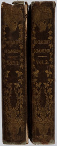 Books:Literature Pre-1900, Boccaccio. The Decameron. William Sharp, 1841. Two twelvemovolumes. Binding worn with some tears and chips, text fo... (Total:2 Items)