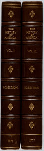 Books:Americana & American History, William Robertson. The History of America. W. Strahan, 1777.First edition. Two quarto volumes. Lacking maps. Bo... (Total: 2Items)