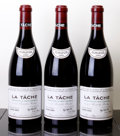 Red Burgundy, La Tache 2005 . Domaine de la Romanee Conti . 2lscl, #00116,03211, 03332. Bottle (3). ... (Total: 3 Btls. )