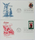 Books:Americana & American History, [First Day Covers]. Group of Two Related to Christmas. 1972. Fine.A first day cover is a stamped envelope or card w...
