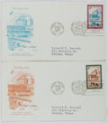 Books:Americana & American History, [First Day Covers]. Group of Two Related to the United Nations.1960. Fine. A first day cover is a stamped envelope ...