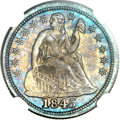 Proof Seated Dimes, 1845 10C PR66 NGC....