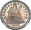 Proof Seated Dimes, 1852 10C PR67 NGC....