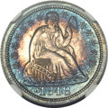 Proof Seated Dimes, 1848 10C PR66 ★ NGC. CAC....