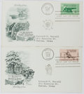 Books:Americana & American History, [First Day Covers]. Group of Two Related to the Civil War.1961-1962. Fine. A first day cover is a stamped envelope ...