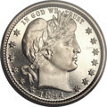 Proof Barber Quarters, 1894 25C PR67+ Cameo PCGS. CAC....