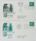 Books:Americana & American History, [First Day Covers]. Group of Two Related to Andrew Jackson's Home,The Hermitage. 1959. Fine. A first day cover is a...