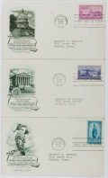 Books:Americana & American History, [First Day Covers]. Group of Three Related to the National CapitalSesquicentennial. 1950. Fine. A first day cover i...