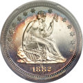 Proof Seated Quarters, 1882 25C PR66+ Cameo PCGS. CAC....