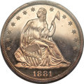 Proof Seated Half Dollars, 1881 50C PR65 Cameo PCGS....