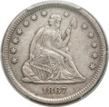Seated Quarters, 1867-S 25C XF40 PCGS....