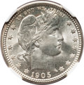 Barber Quarters, 1905-O 25C MS66 NGC. CAC....