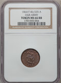 Civil War Patriotics, 1864 Our Army MS66 Red and Brown NGC. Fuld-46/335a....