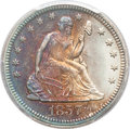 Seated Quarters, 1857 25C MS66+ PCGS Secure....