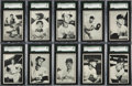 Baseball Cards:Sets, 1953 Bowman Black and White Mid To High Grade Complete Set (64). ...