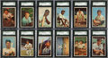 Baseball Cards:Sets, 1953 Bowman Color Baseball Mid To High Grade Complete Set (160)....