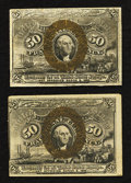 Fractional Currency:Second Issue, Fr. 1321 50¢ Second Issue Fine. Fr. 1322 50¢ Second Issue Very Fine.. ... (Total: 2 notes)