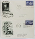 Books:Americana & American History, [First Day Covers]. Group of Two Related to General George S.Patton. 1953. Fine. A first day cover is a stamped env... (Total: 2Items)