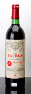 Red Bordeaux, Chateau Petrus 1982 . Pomerol. lscl, ltl, cuc to reveal branded cork. Bottle (1). ... (Total: 1 Btl. )