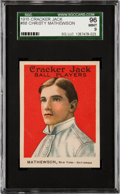 Baseball Cards:Singles (Pre-1930), 1915 E145-2 Cracker Jack Christy Mathewson #88 SGC 96 Mint 9 - Poptwo, None Higher! ...