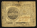 Colonial Notes:Continental Congress Issues, Continental Currency July 22, 1776 $7 Fine.. ...