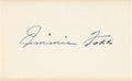Autographs:Index Cards, Circa 1950 Jimmie Foxx Signed Index Card....