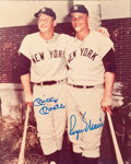 Autographs:Photos, 1980's Mickey Mantle & Roger Maris Signed Photograph....