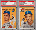 Baseball Cards:Lots, 1954 Topps Baseball PSA Mint 9 Pair (2)....
