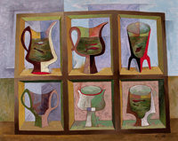 BROR ALEXANDER UTTER (American, 1913-1993) Vessels and Fish, 1953 Oil on canvas 24 x 30 inches (6