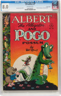 Golden Age (1938-1955):Funny Animal, Four Color #148 Albert the Alligator and Pogo Possum - Crowley Copypedigree (Dell, 1947) CGC VF 8.0 Off-white pages....