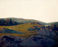 Paintings, MAXFIELD PARRISH (American, 1870-1966). Sheep Pasture, Cornish, New Hampshire, 1936. Oil on panel . 25 x 30 inches (63.5... (Total: 2 Items)