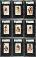 """Non-Sport Cards:Sets, 1887 N2 Allen & Ginter """"American Indian Chiefs"""" Partial Set (26/50). ..."""